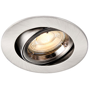 Saxby GU10 Cast Adjustable Downlight - Brushed Nickel