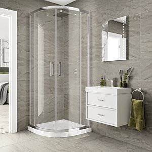 Wickes Astoria Warm Grey Porcelain Wall & Floor Wall & Floor Tile - 600 x 300mm