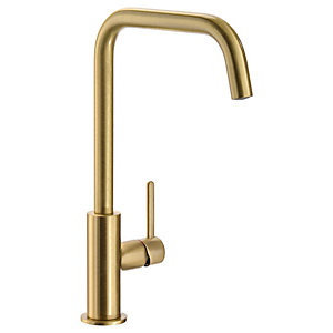Abode Althia Single Lever Kitchen Tap Brushed Brass