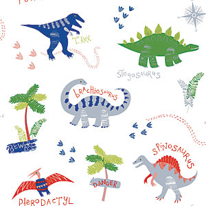 Arthouse Dino Doodles Wallpaper 10.05m x 53cm