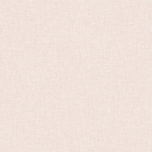 Arthouse Linen Texture Blush Wallpaper 10.05m x 53cm