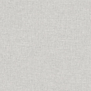 Arthouse Linen Texture Light Grey Wallpaper 10.05m x 53cm