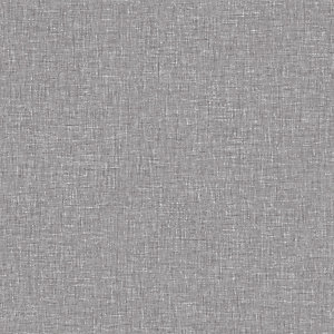 Arthouse Linen Texture Mid Grey Wallpaper 10.05m x 53cm
