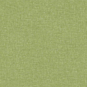 Arthouse Linen Texture Moss Green Wallpaper 10.05m x 53cm