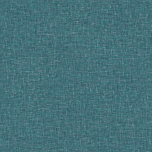 Arthouse Linen Texture Teal Wallpaper 10.05m x 53cm