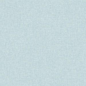 Arthouse Linen Texture Vintage Blue Wallpaper 10.05m x 53cm