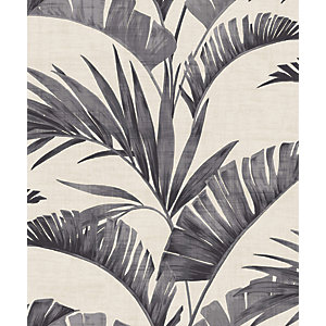 Arthouse Banana Palm Charcoal Wallpaper 10.05m x 53cm