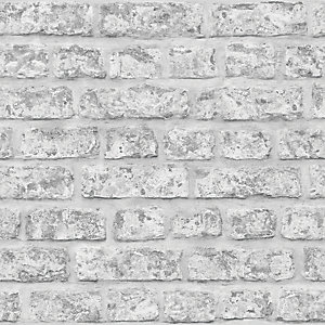 Arthouse Rustic Grey Brick Wallpaper 10.05m x 53cm