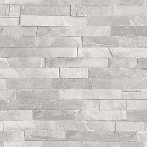 Arthouse Diamond Slate Dove Grey Wallpaper 10.05m x 53cm