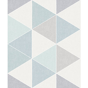 Arthouse Retro Triangle Teal Wallpaper 10.05m x 53cm