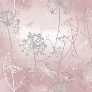 Arthouse Damselfly Blush Wallpaper 10.05m x 53cm
