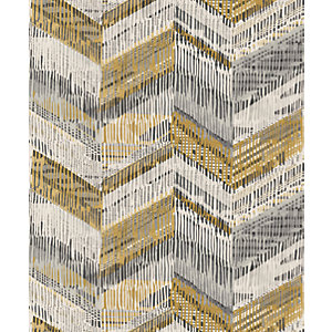 Arthouse Chevron Weave Ochre Wallpaper 10.05m x 53cm