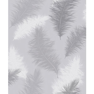Arthouse Sussurro Grey Wallpaper 10.05m x 53cm