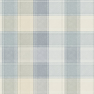 Arthouse Country Check Grey Wallpaper 10.05m x 53cm