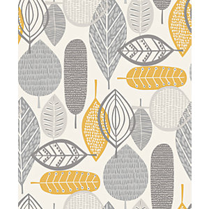 Arthouse Malmo Ochre Wallpaper 10.05m x 53cm