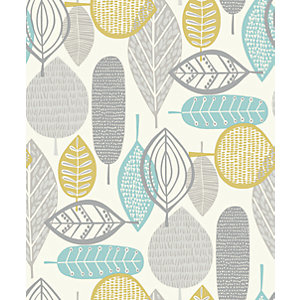 Arthouse Malmo Teal Wallpaper 10.05m x 53cm