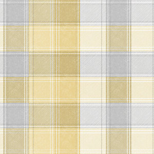 Arthouse Country Check Ochre Wallpaper 10.05m x 53cm