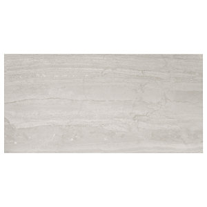Wickes Olympia Grey Polished Stone Porcelain Wall & Floor Tile 600 x 300mm Sample