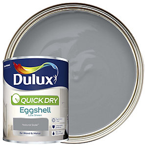 Dulux Quick Dry Eggshell Natural Slate Paint 750ml