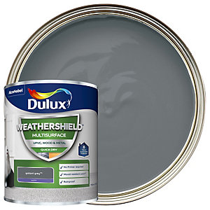 Dulux Weathershield Multi Surface Gallant Grey Paint 750ml
