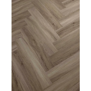 Novocore Herringbone Honey Oak LVT Flooring With Built In Underlay- 1.51m2 Pack