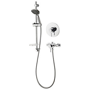 Aqualisa Concentric Single Outlet Shower Valve with Built-In Kit