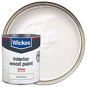 Wickes Quick Dry Gloss Powder Grey 750ml