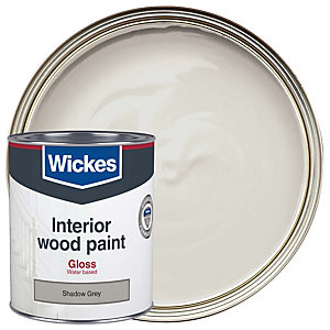 Wickes Quick Dry Gloss Shadow Grey 750ml