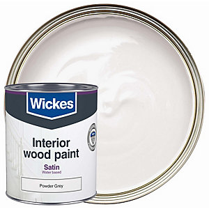 Wickes Quick Dry Satinwood Powder Grey 750ml
