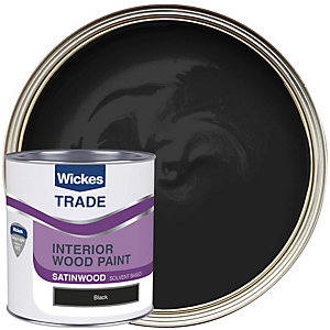 Wickes Trade Satinwood Black 1L