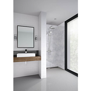 Mermaid Elite Caliza Post Form Single Shower Panel 2420 x 1200mm