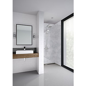 Mermaid Elite Caliza Tongue & Groove Single Shower Panel