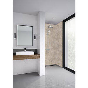 Mermaid Elite Treviso Tongue & Groove Single Shower Panel