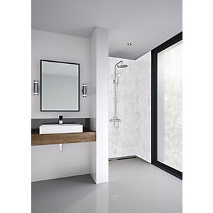 Mermaid Elite Padova Post Form Single Shower Panel - 2420 x 1200mm