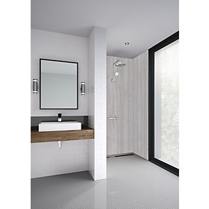 Mermaid Elite Vieste Post Form Single Shower Panel - 2420 x 1200mm
