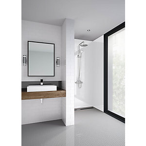Mermaid Elite Artico Post Form Single Shower Panel 2420 x 1200mm