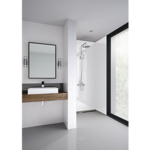 Mermaid Elite Artico Tongue & Groove Single Shower Panel