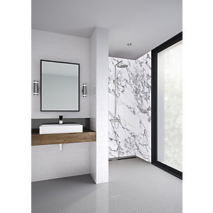 Mermaid Elite Marmo Migliore Post Form Single Shower Panel 2420 x 1200mm