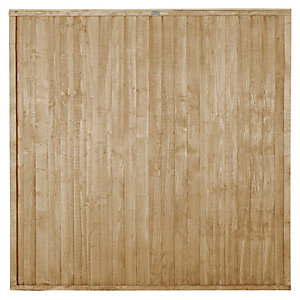 Forest Garden Pressure treated Closeboard Fence Panel - 6x6ft Multi Packs