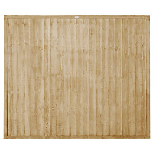 Forest Garden Pressure treated Closeboard Fence Panel - 6x5ft Multi Packs