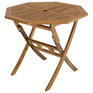 Charles Bentley FSC Acacia Wooden Octagonal Foldable Table
