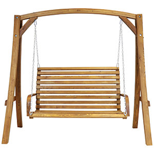 Charles Bentley 3 Seater Wooden Swing Chair