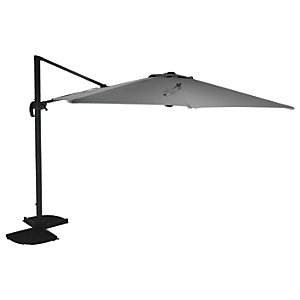 Charles Bentley 3.5m X-Large Round Cantilever Garden Parasol - Grey