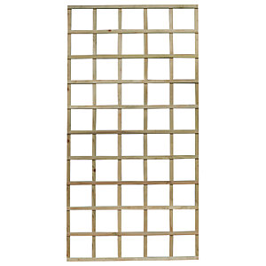 Image of Forest Garden Smooth Planed Trellis Panel 90cm x 180cm