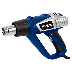 Wickes Corded Hot Air Gun with Accessories - 2000W
