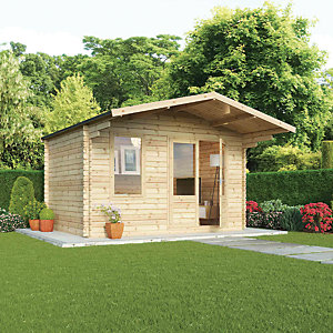 Mercia 4m x 3m 34mm Log Thickness Haven Log Cabin