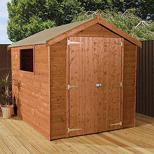 Mercia 8 x 6 ft Pressure Treated Shiplap Apex Shed