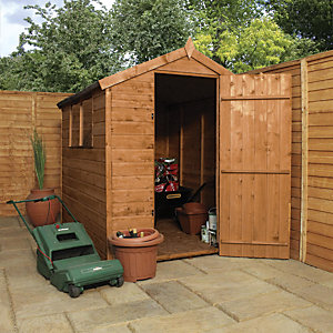 Mercia 7 x 5 ft Pressure Treated 2 Window Shiplap Apex Shed