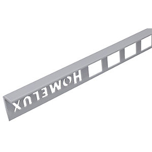 Homelux 8mm PVC Straight Edge Grey Tile Trim 2.5m