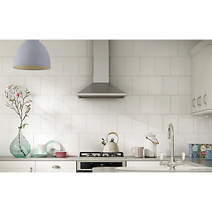 Wickes White Ceramic Wall Tile 200 x 250mm